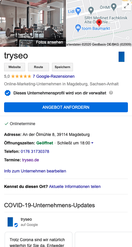 tryseo google mybusiness